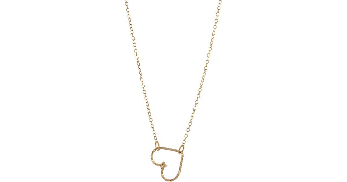 by philippe side pendant necklace in metallic lyst