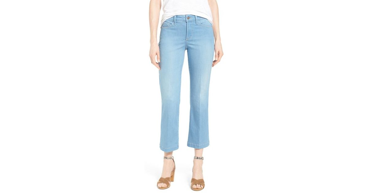 Nydj 'sophia' Stretch High Rise Ankle Flare Leg Jeans in Blue | Lyst