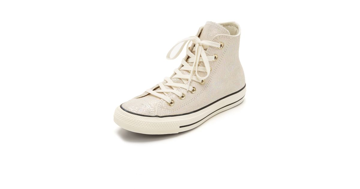 d8e251395d52 Lyst - Converse Chuck Taylor All Star Oil Slick Sneakers in Natural