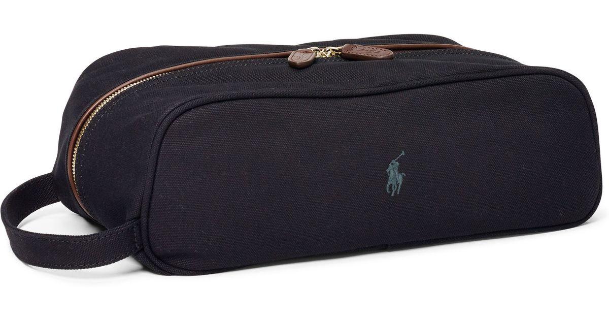 f0c029ce58fc Ralph Lauren Canvas Golf Shoe Bag in Black for Men - Lyst