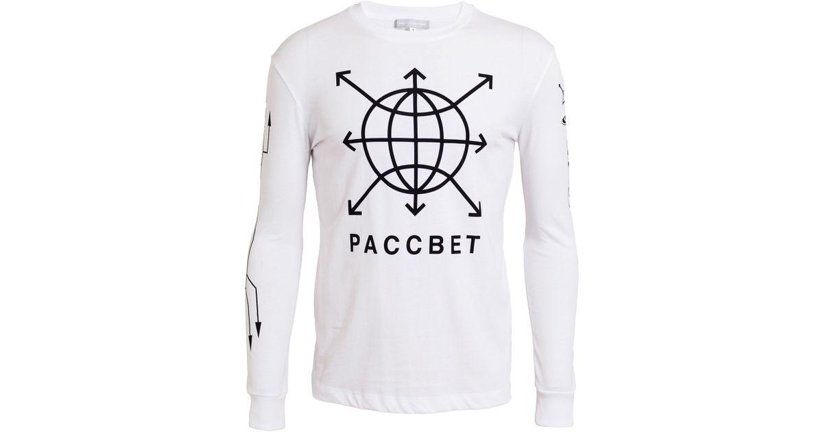 7e11a0e45 Gosha Rubchinskiy Mens White Long Sleeve Printed V2 Tshirt in White for Men  - Lyst