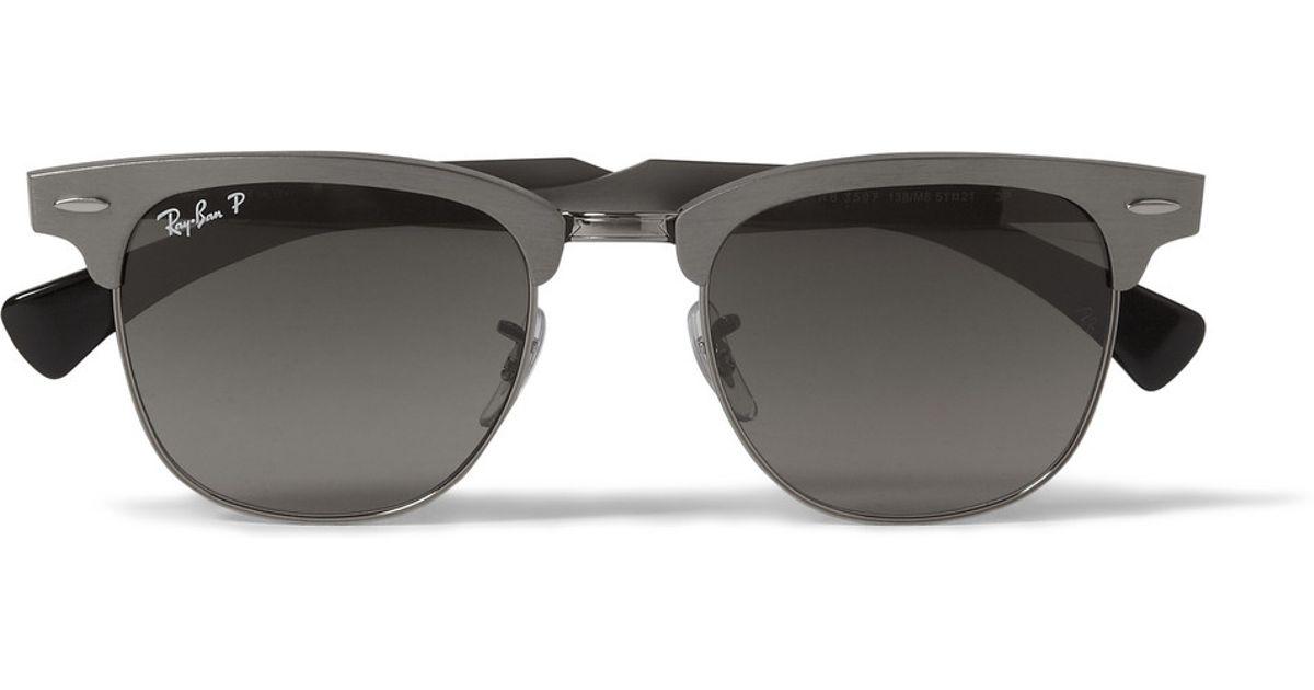 7d398e88d9 ... czech ray ban clubmaster aluminium sunglasses in gray for men lyst  9c9dd 342b8