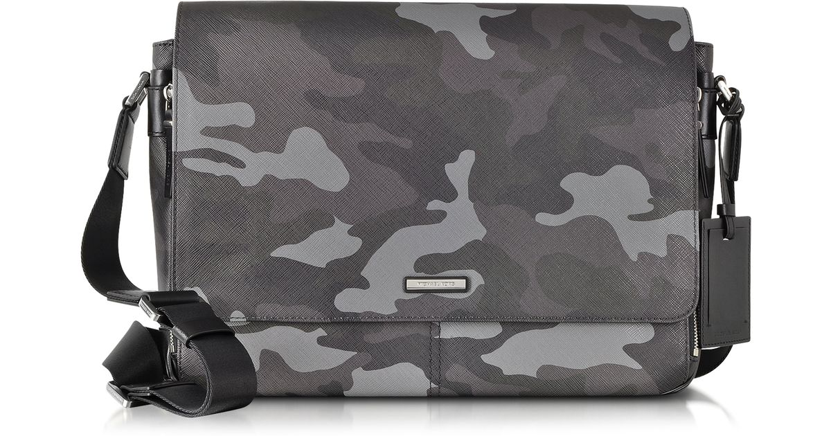 416f130ba822 Lyst - Michael Kors Jet Set Men S Grey Camouflage Messenger Bag in Gray for  Men