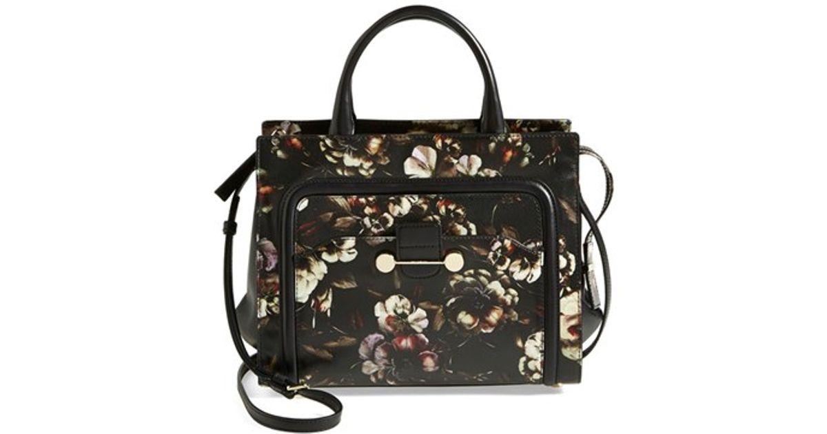 Jason Wu U0026#39;daphneu0026#39; Floral Print Crossbody Bag In Black   Lyst