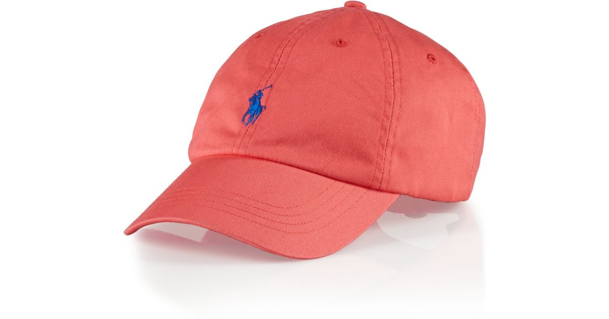 8c6f6c846a1 Lyst Polo Ralph Lauren Clic Chino Sports Cap In Pink For Men