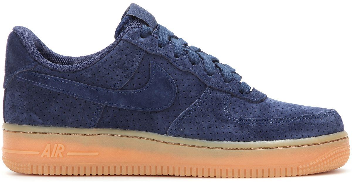 classic fit 54259 51e99 Lyst - Nike Air Force 1 Suede Sneakers in Blue
