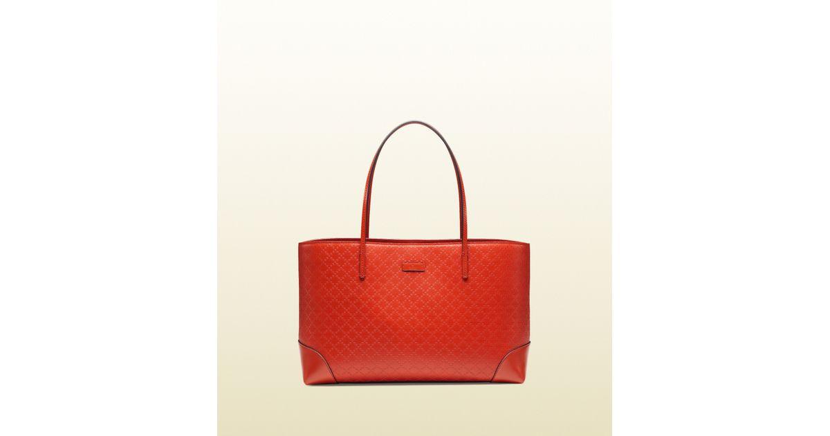 d6704200ad1c Gucci Bright Diamante Leather Tote in Red - Lyst