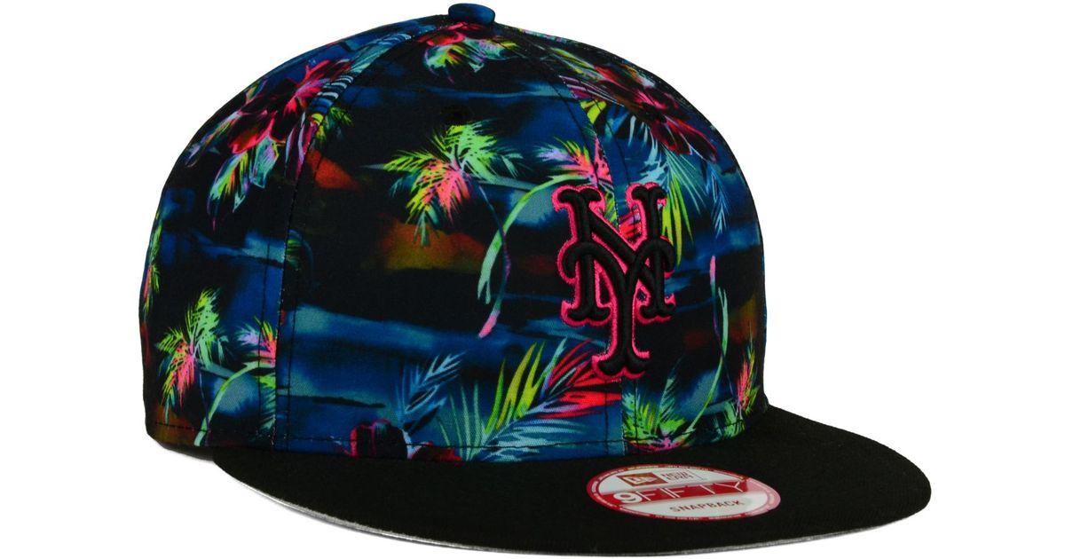 best website 02333 39775 ... wholesale lyst ktz new york mets dark tropic 9fifty snapback cap for  men 02997 931ec