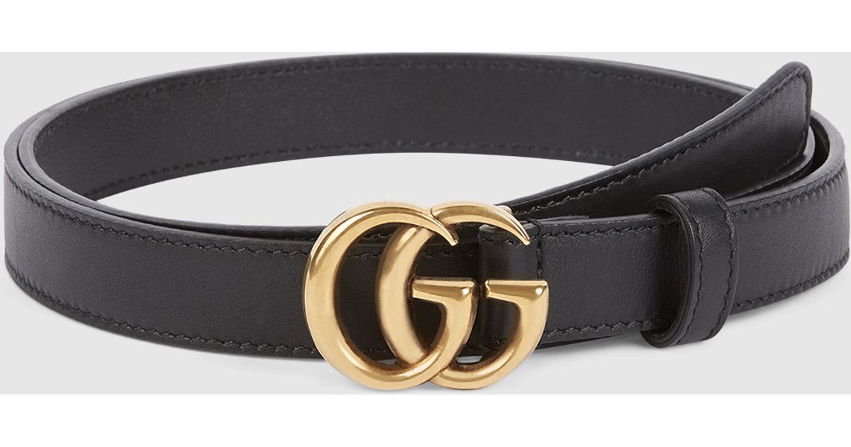 gucci leather belt with double g buckle in metallic lyst