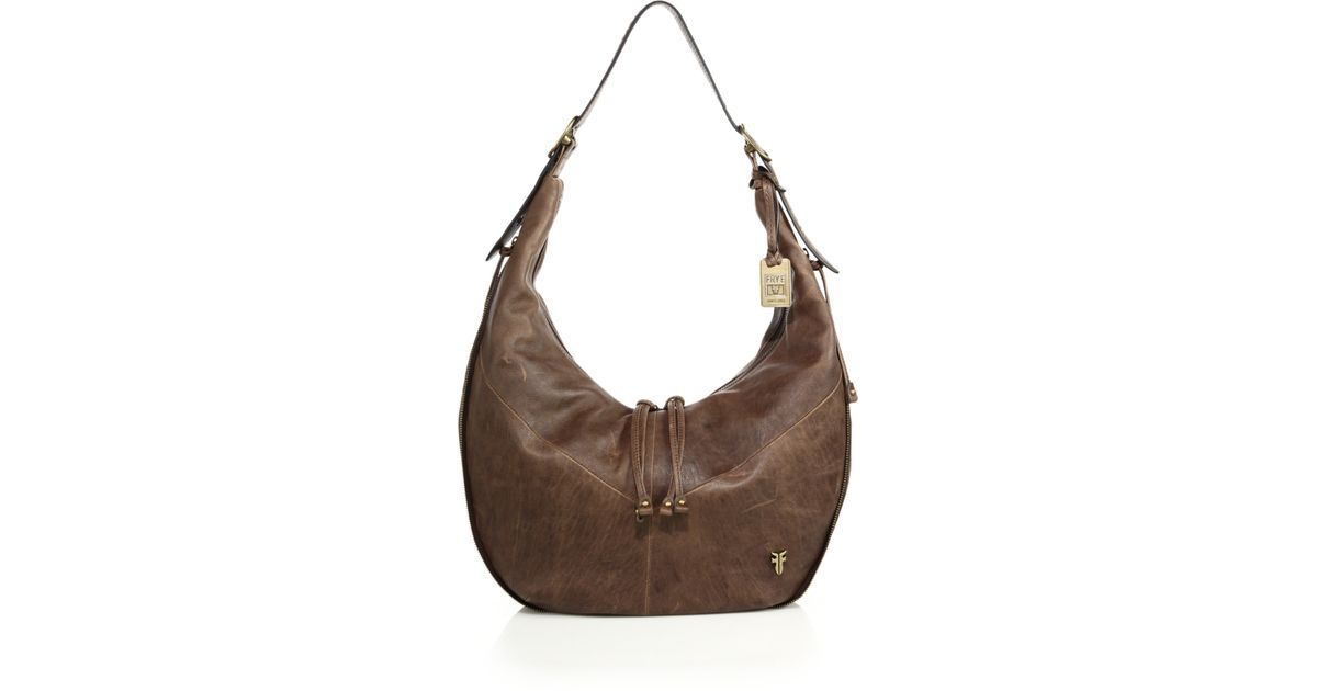 ea07a975c4a0f6 Frye Belle Bohemian Leather Hobo Bag in Brown - Lyst