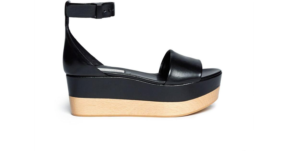 stella mccartney ankle flatform sandals in black lyst