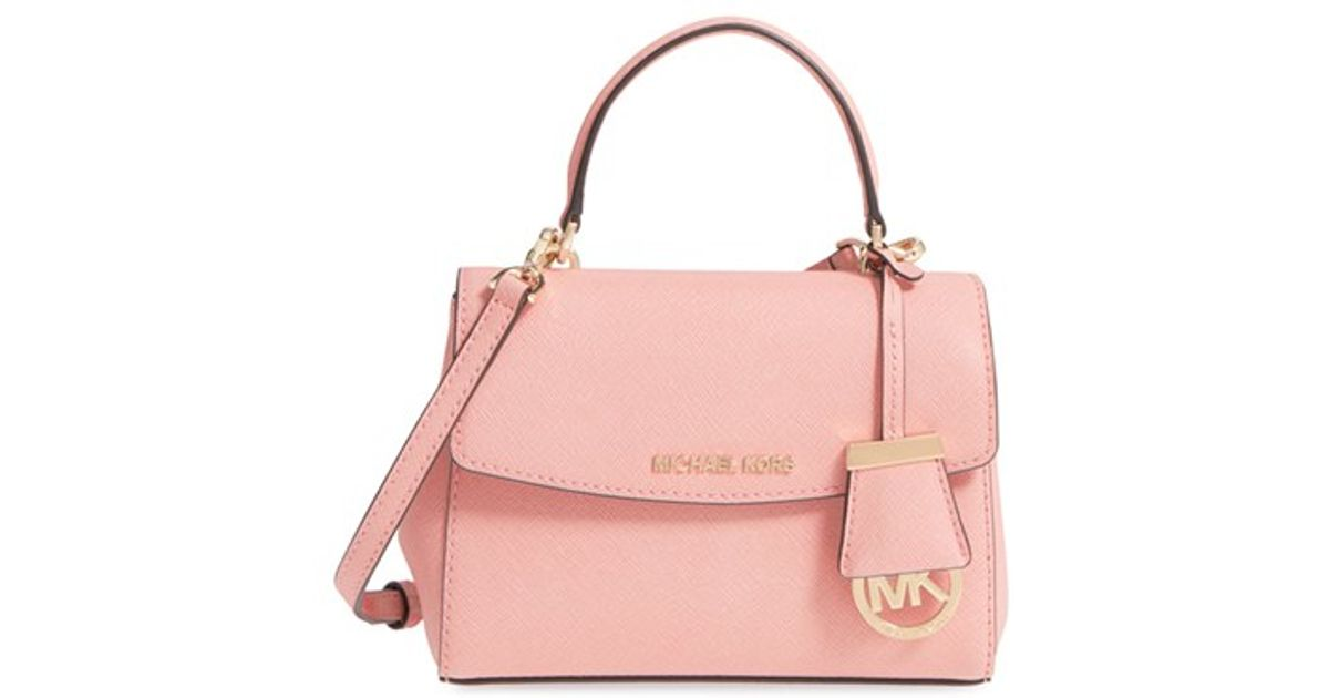a1f1e551e055e7 MICHAEL Michael Kors 'extra Small Ava' Leather Crossbody Bag in Pink - Lyst