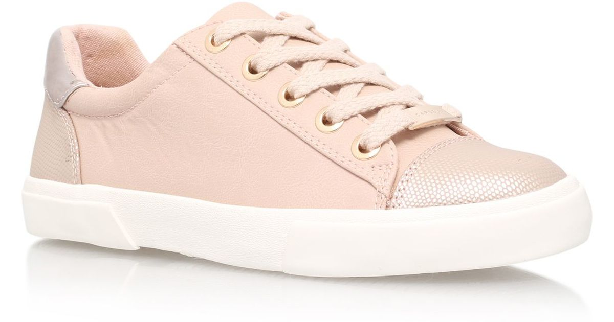 Carvela Kurt Geiger Light Lace Up Trainers In Pink Lyst
