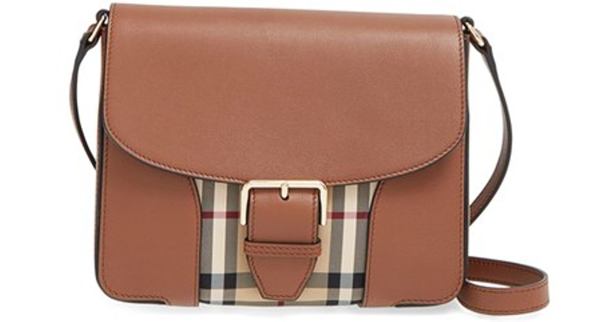 8dbd8e7c9e48 Lyst - Burberry  small Dickens - Horseferry Check  Crossbody Bag in Brown