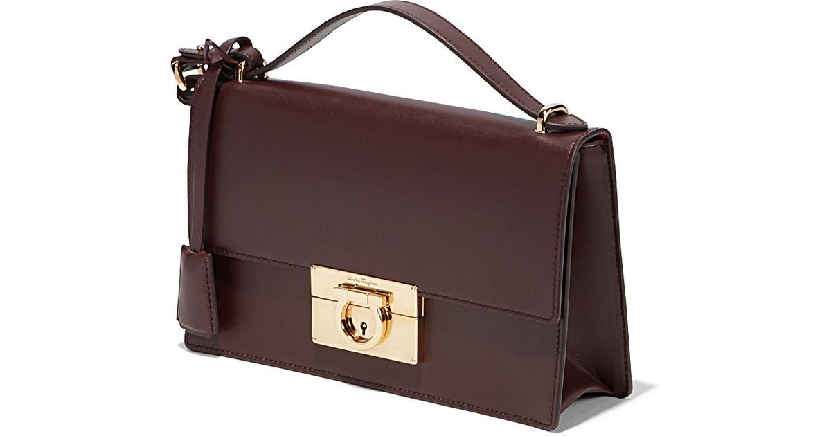 Lyst - Ferragamo Gancio Lock Shoulder Bag in Purple d1651a89507e9