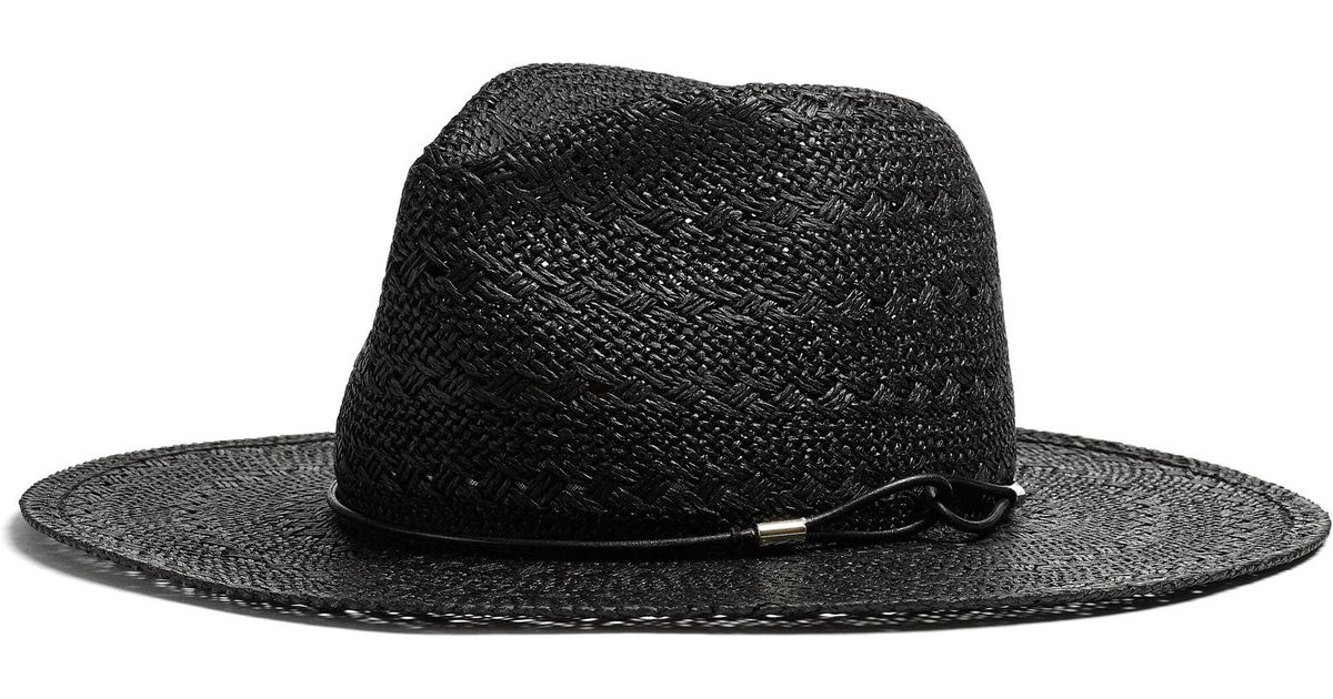 Lyst - Rag   Bone Straw Wide Brim Fedora in Black a79954b5e9d