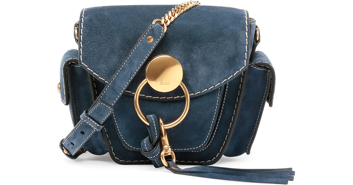 chloe chloe bags - Chlo�� Jodie Small Suede Camera Bag in Blue (NAVY) | Lyst