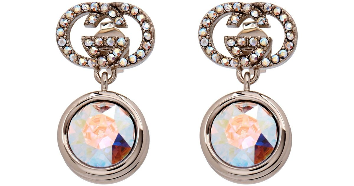 Gucci Crystal embellished hoop earrings 3w2N6k0