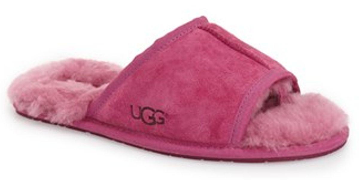 edfab2b57273 Lyst - UGG Mellie Suede Slide Slippers in Purple