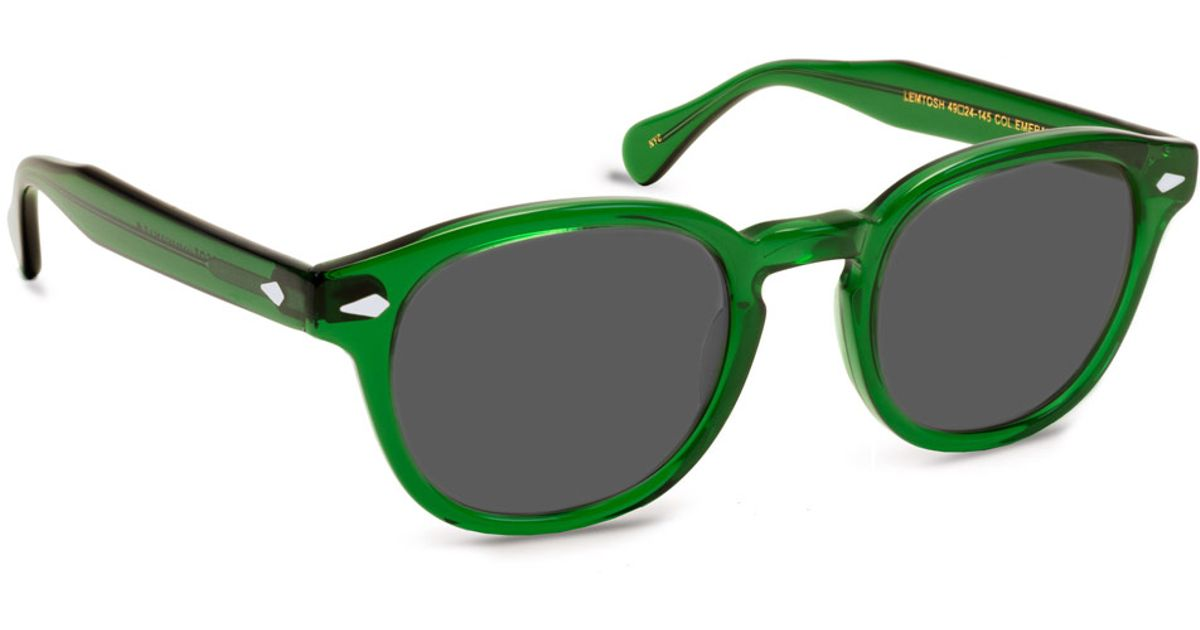 60ded02631 Moscot Emerald Lemtosh Sunglasses in Green - Lyst