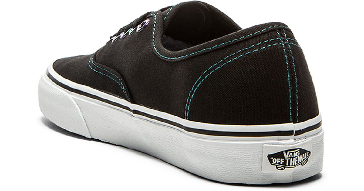 eb820a4e43b0 Lyst - Vans Authentic Iridescent Eyelets Sneaker in Black