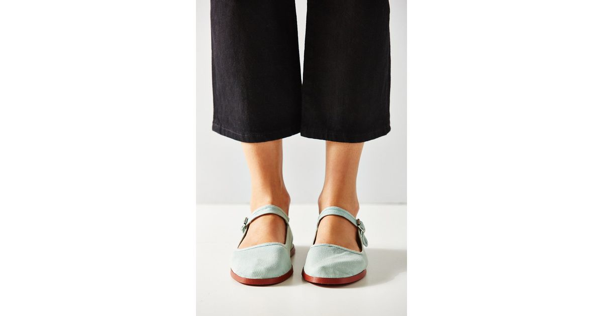 Lyst - Urban Outfitters Cotton Mary Jane Flat in Blue