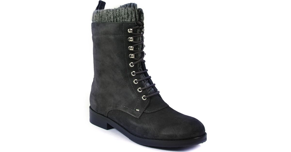 by sigerson morrison flat boot in gray lyst