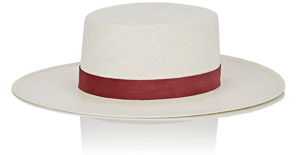 janessa zinnia bolero hat in white lyst