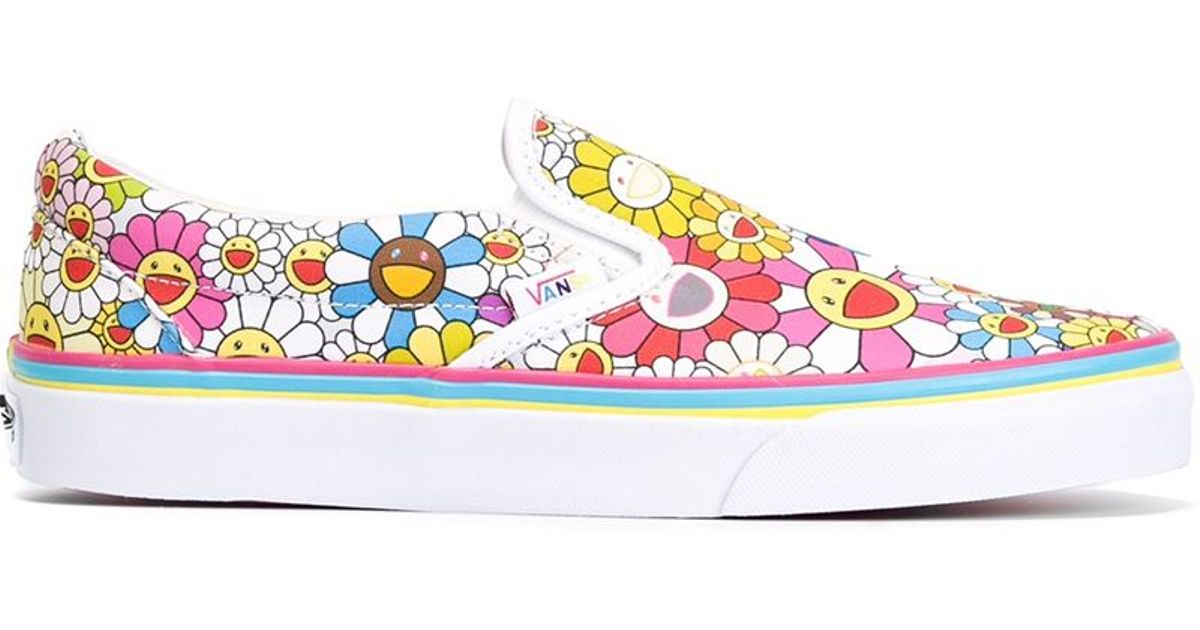 a913252c284e16 Vans   X Takashi Murakami  Floral Slip-On Sneakers - Lyst