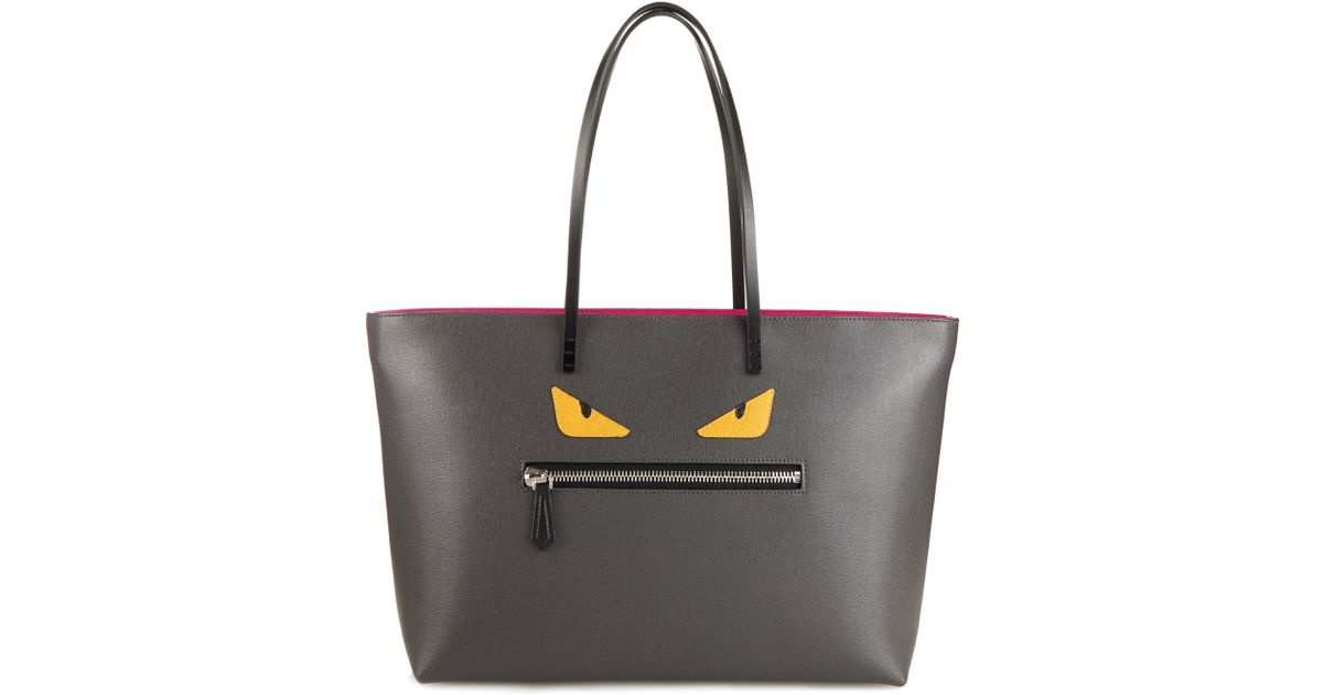 ccb345e530 fendi roll printed textured-leather tote