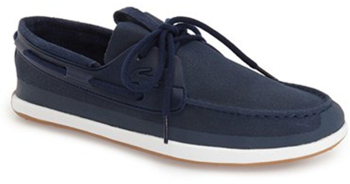 37692fd3e Lyst - Lacoste  landsailing  Boat Shoe in Blue for Men