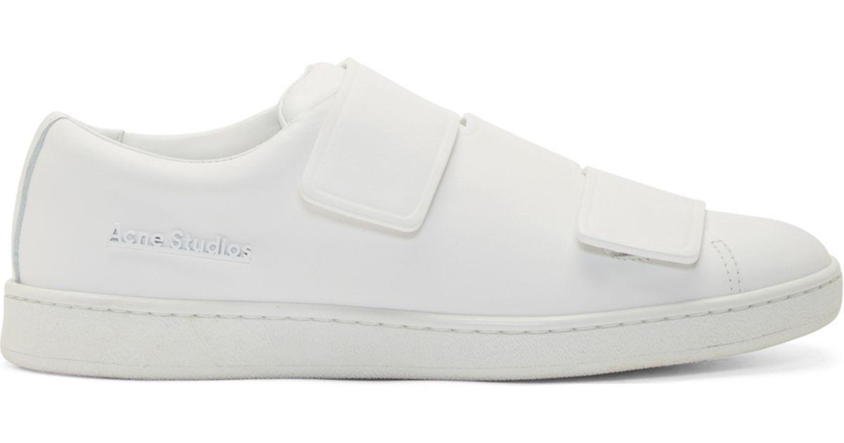 Acne Studios White Leather Sneakers Yco7BNaEiU