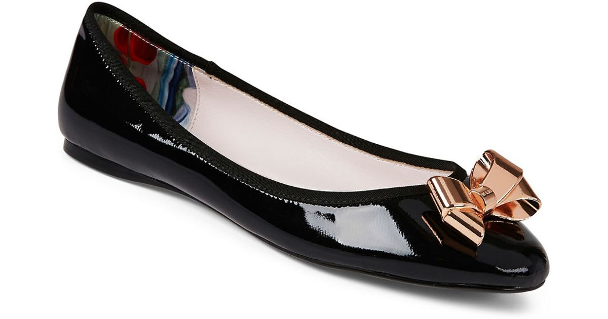 2543674400437 Lyst - Ted Baker Imme 2 Flats in Black