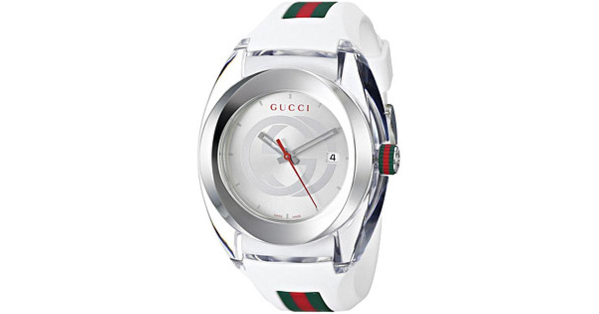 f95e8396f7f Lyst - Gucci Sync Xxl-ya137102 in Metallic for Men
