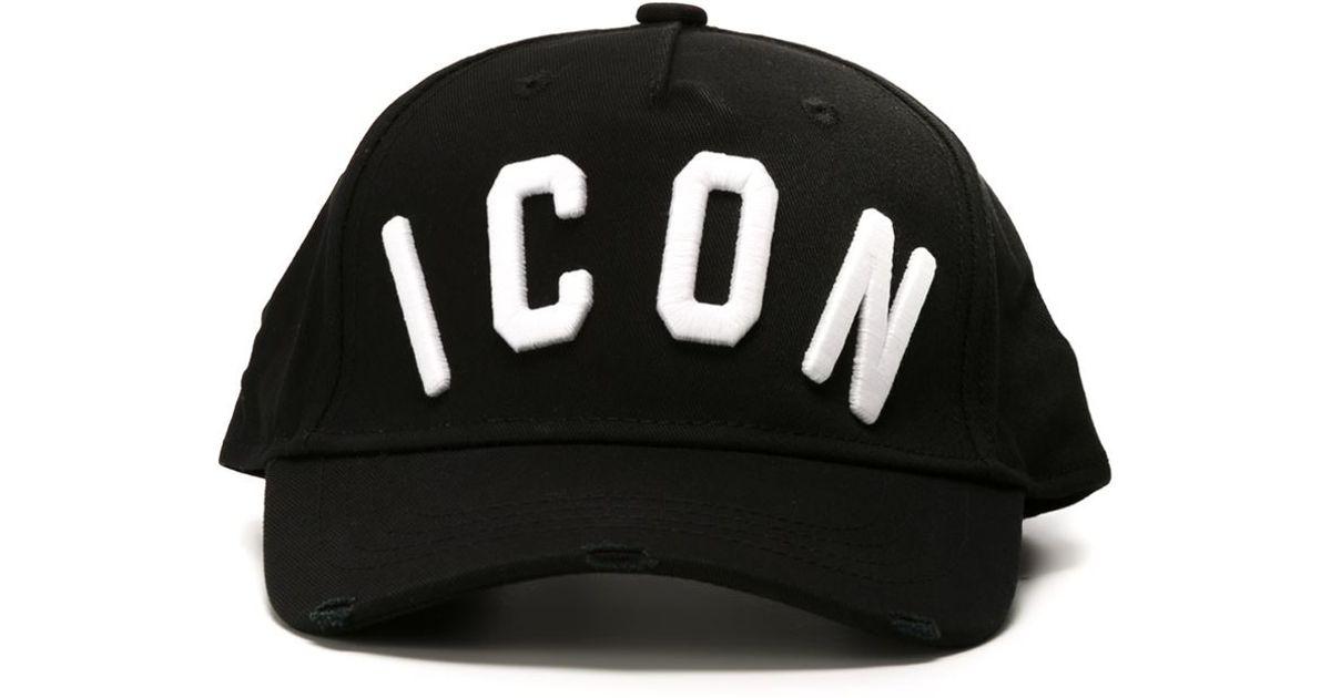 fd0c9fca15d9 Lyst - DSquared² Icon Print Baseball Cap in Black for Men
