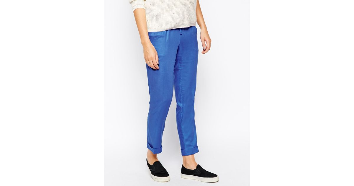 130fefc2fd9a0 Isabella Oliver Messina Relaxed Maternity Pants in Blue - Lyst