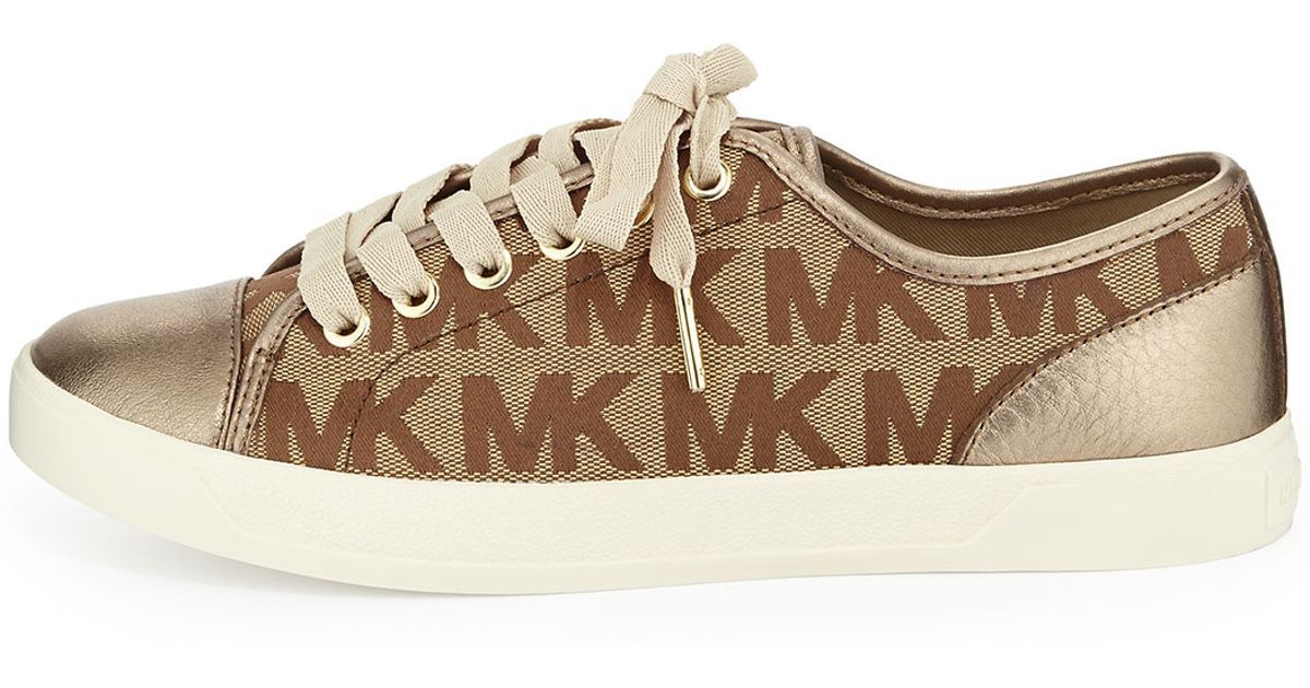 3048437d8d51 MICHAEL Michael Kors Mk Logo City Sneaker in Brown - Lyst