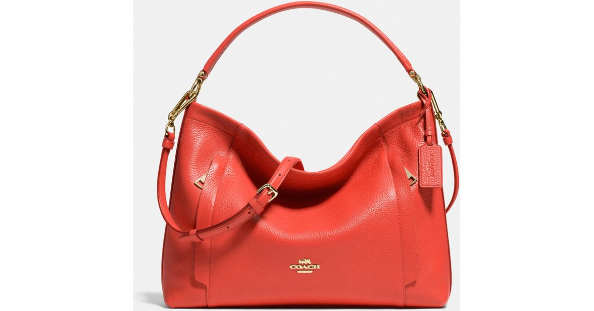 5567322570 ... tote black leather kiss lock 4c36e 27568; czech lyst coach scout hobo  in pebble leather in red bcee2 4c550