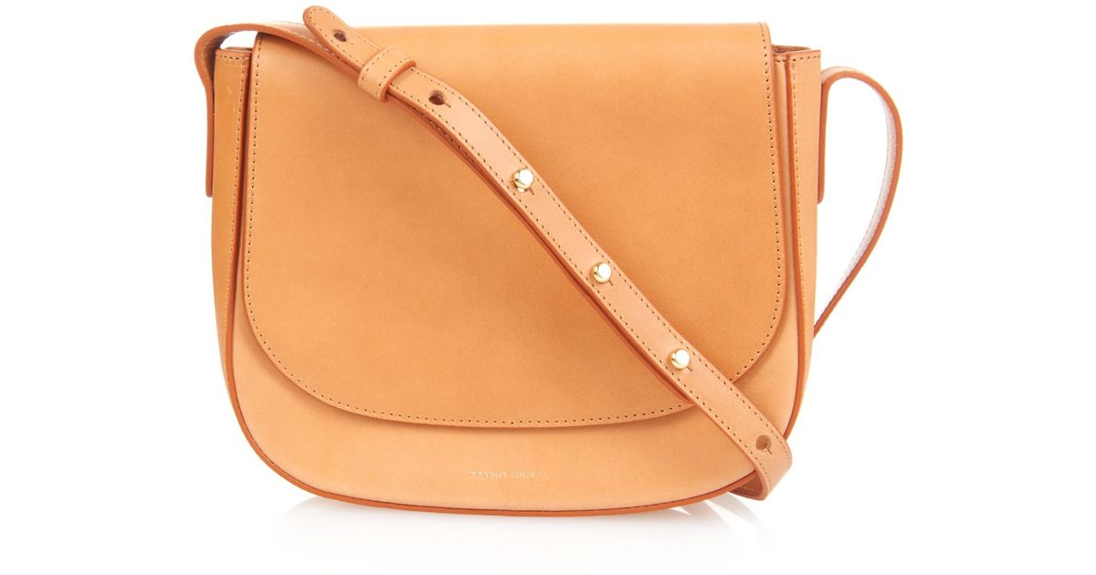 e21f4f9d5d27 Lyst - Mansur Gavriel Leather Cross-Body Bag in Orange