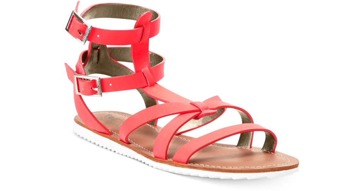 9a91940d30fa Lyst - Circus by Sam Edelman Selma Gladiator Sandals in Red