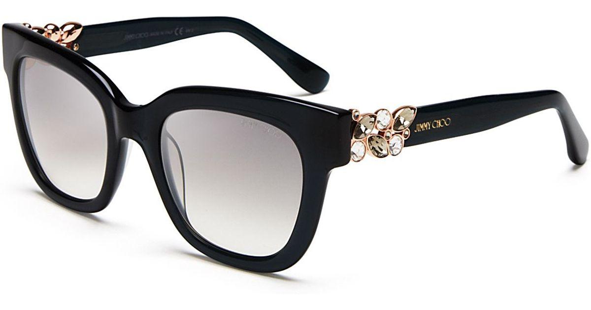 3c62da52e28 Lyst - Jimmy Choo Maggie Mirrored Sunglasses in Gray