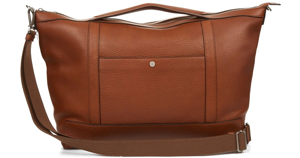 3bb03cf29a13 ... france mulberry multi tasker grained leather holdall in brown for men  lyst 8ecd9 fcf5b