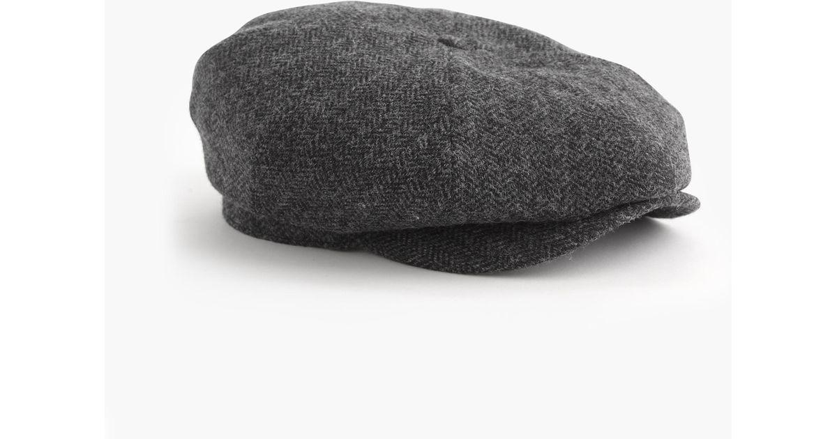 1e52f37d6d7 Lyst - J.Crew English Wool Newsboy Cap in Gray for Men