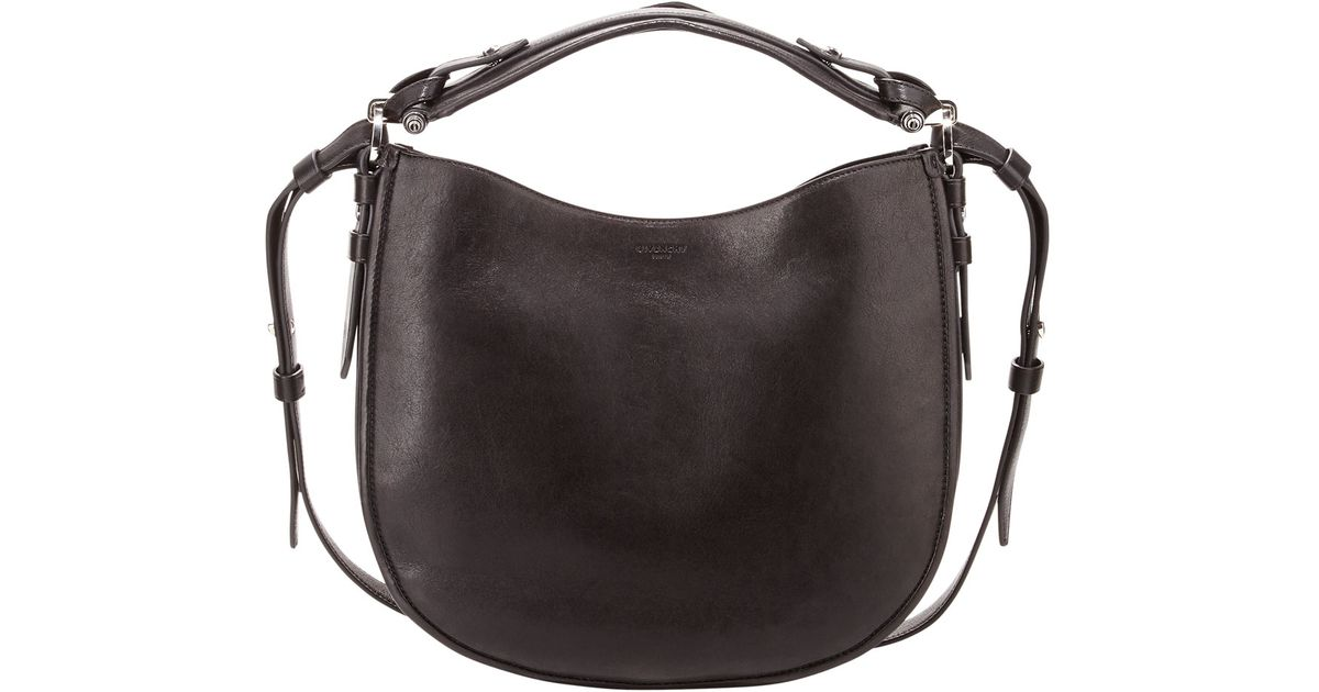 Lyst - Givenchy Obsedia Small Leather Hobo Bag in Black ff5109d5d5