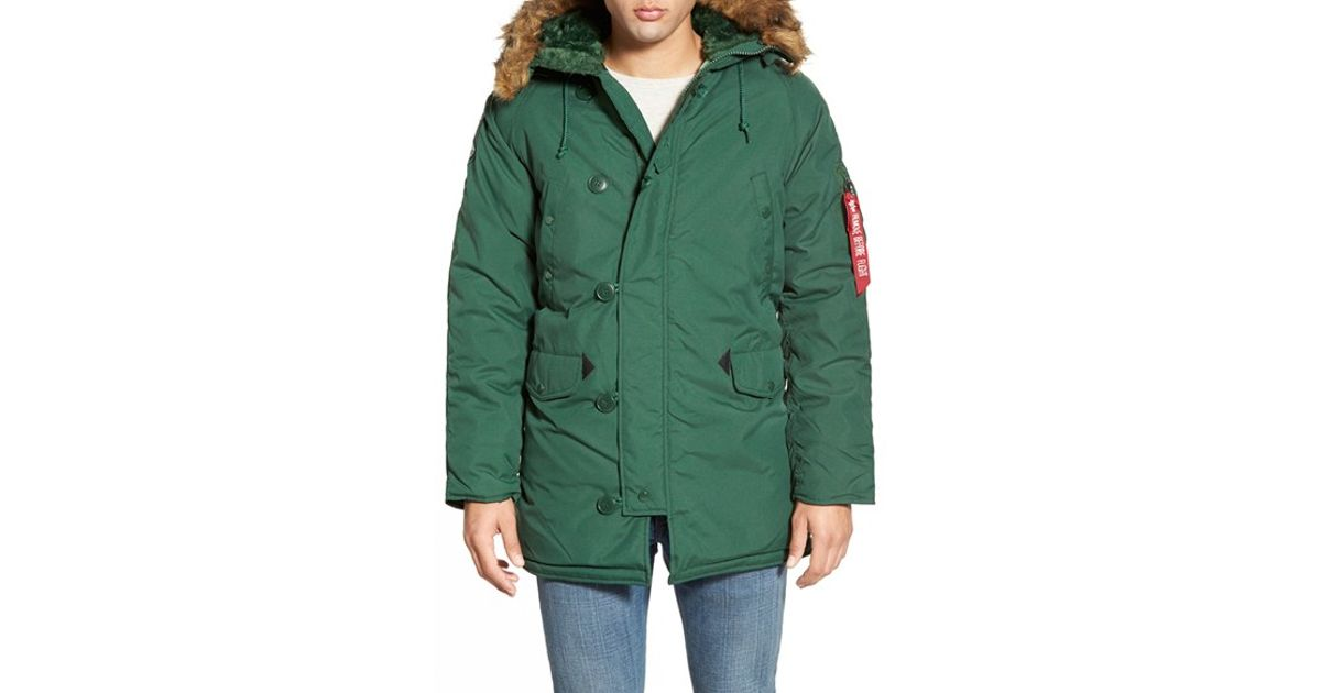 Alpha industries 'altitude' Water Resistant Oxford Nylon Parka ...