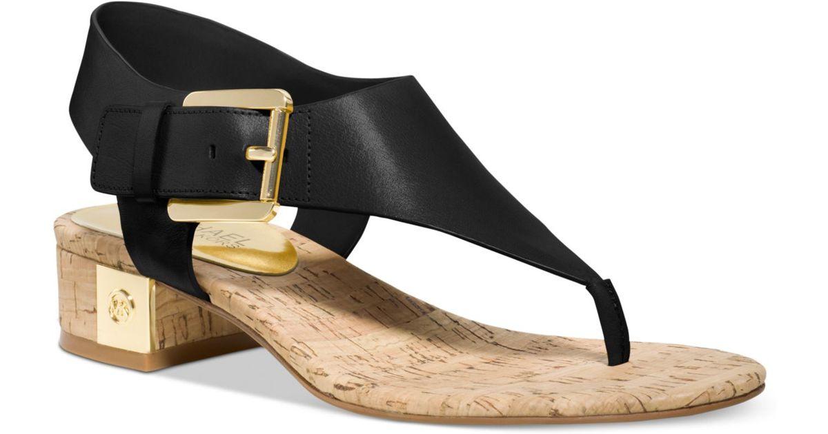 b1943a9f41a Lyst - Michael Kors Michael London Thong Sandals in Black