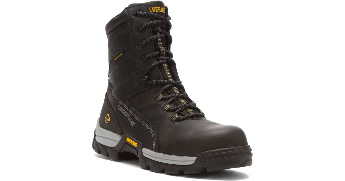 "def412592b9 Wolverine - Black Tarmac Carbonmaxâ""¢ Eh Wp Reflective 8-inch Lace-up Boot  for Men - Lyst"