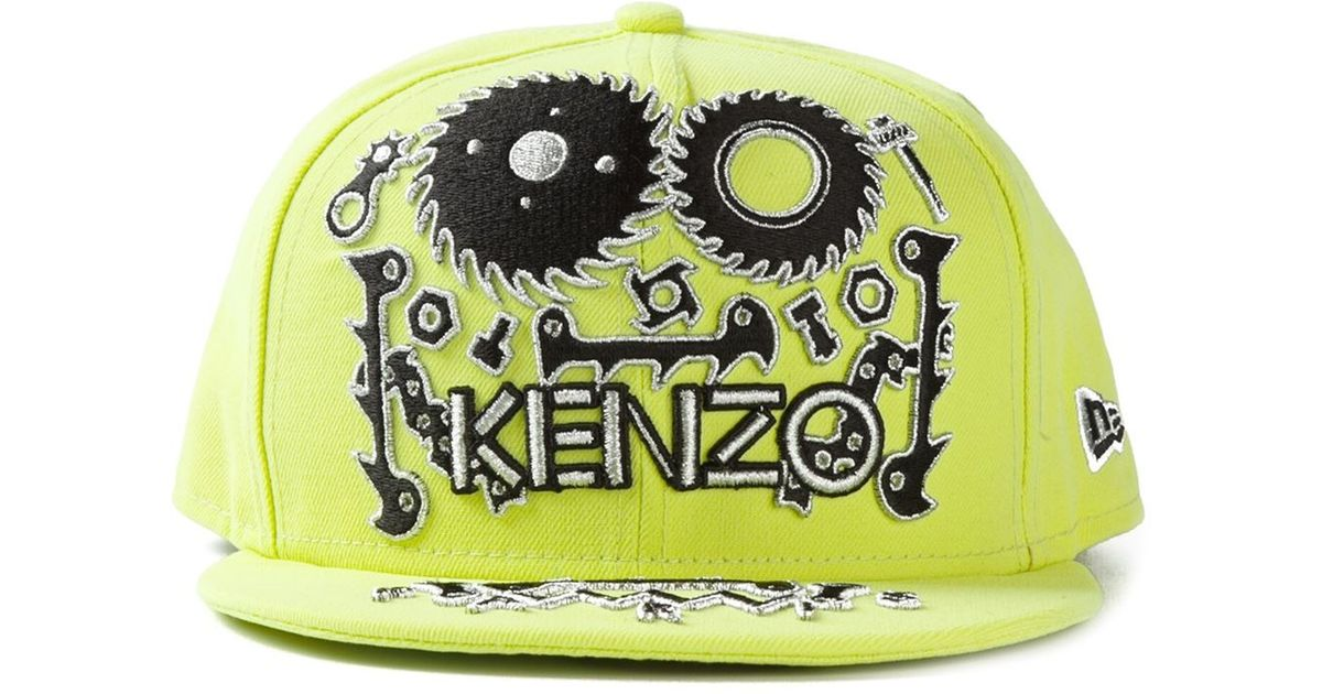 Lyst - KENZO Monster New Era Cap in Green for Men 8d1372b8a58