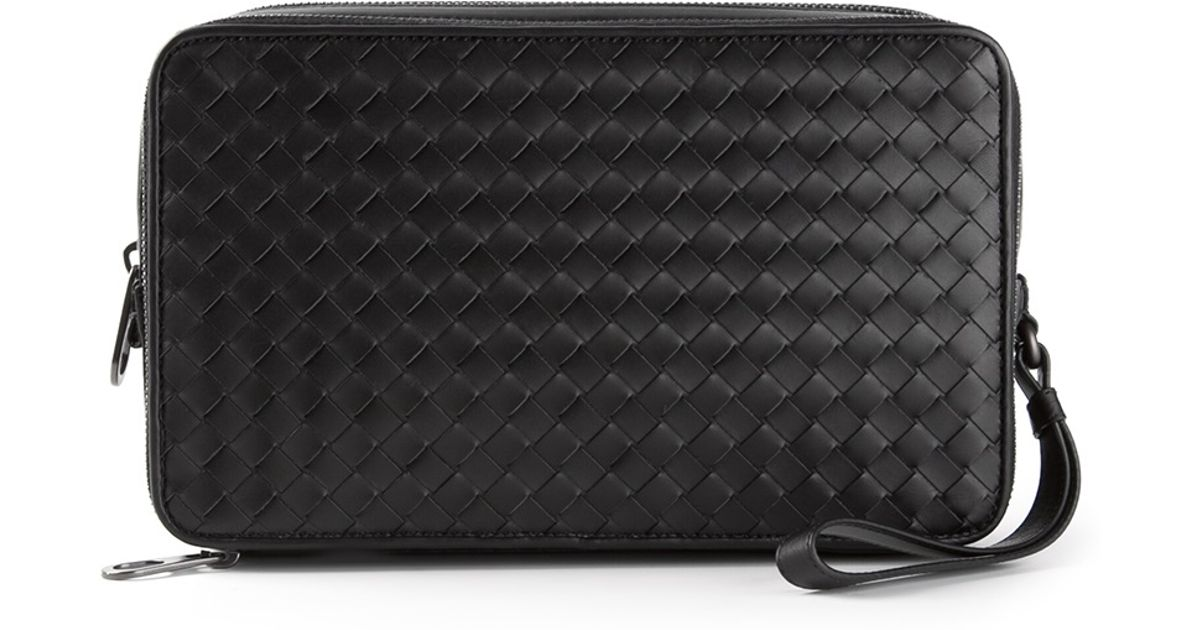 082d23b452da Lyst - Bottega Veneta Woven Clutch in Black for Men