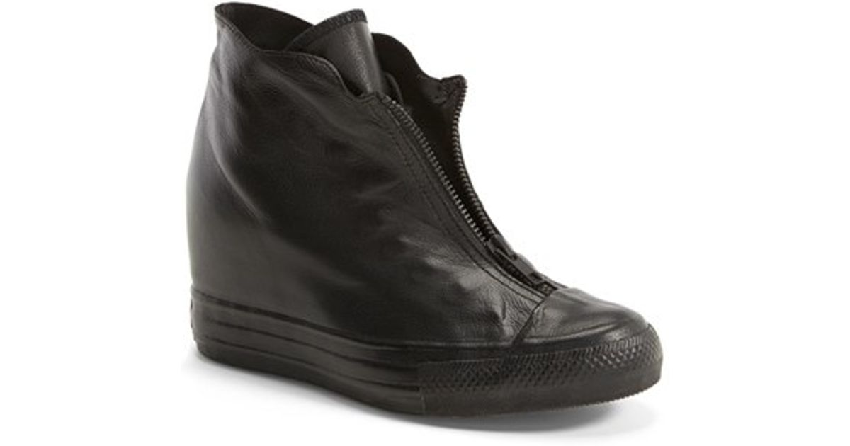 1ee72d9db62 Lyst - Converse Chuck Taylor All Star  Lux Shroud  Hidden Wedge Bootie in  Black